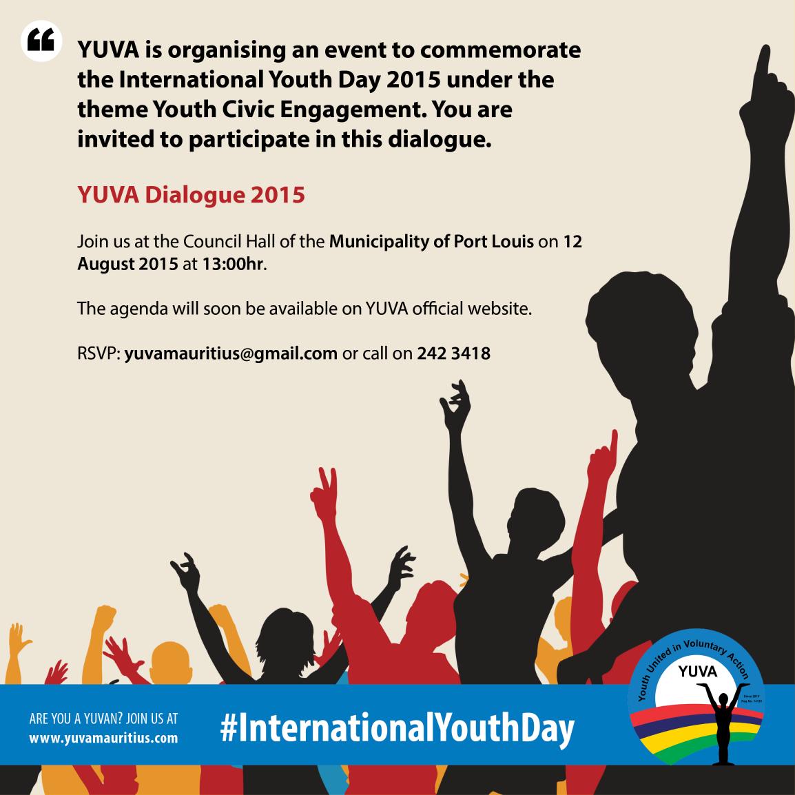 IYD (Poster) - YUVA Dialogue 2015