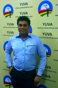 Ghirish Bissoon, new president of YUVA District of Pamplemousses.